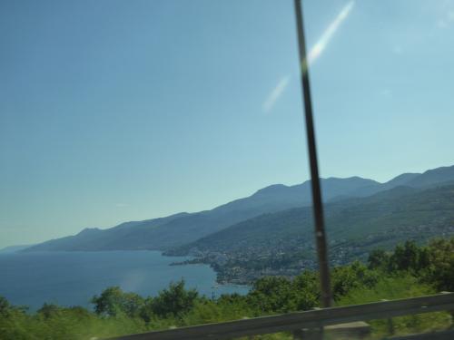 アドリア海です!気分が盛り上がります。