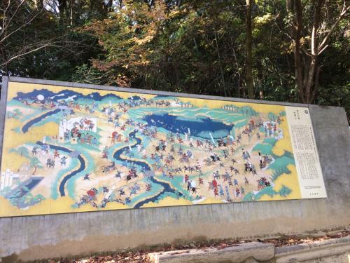 旗立松展望台の『秀吉の道』陶板画