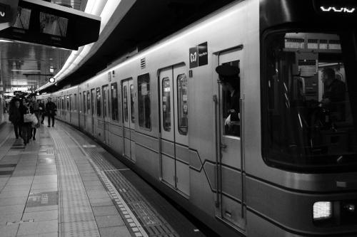 日比谷線の六本木駅です。