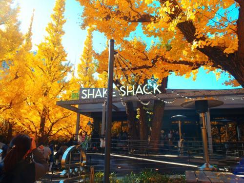 「SHKE SHACK」ニューヨークのハンバーガー屋さん、お客さんが外まで大勢並ぶ人気店のもよう。<br />今では日本に何店舗か有るけど、日本上陸1号店だそうです。<br />
