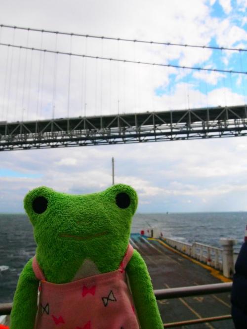 けろ子もいるよ。<br />今年は何度も明石海峡大橋の下を通ったり、橋を渡ったり、とにかく身近な橋なものでけろ子は特に興味ないけろよーだって。