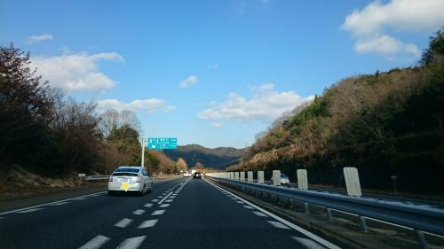 1月1日は、とっても良い天気でした^^<br />高速で、岡山に向けて出発!