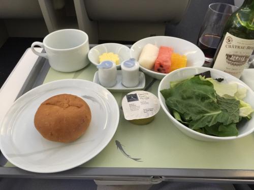 大韓航空の機内食イマイチ
