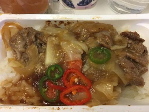 中華風?牛丼。臭みがあってイマイチ。