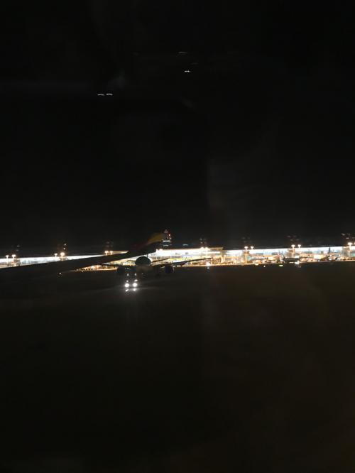 19時に仁川空港へ到着<br /><br />すでに真っ暗<br /><br />寒そう~( ;∀;)
