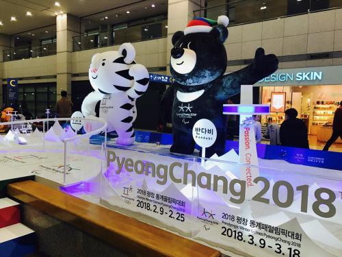 イミグレは多少並んだ程度でした<br /><br />アライバルホールでは2018年冬季オリンピックの宣伝してます<br />平昌のモノレール事件、どうなったんでしょ?