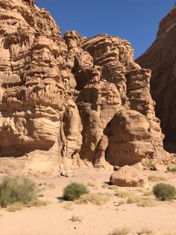 男性的な野性味あふれる岩山です
