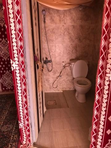 部屋にトイレとシャワーもあります<br /><br />ここで昼食をとって、ここから4時間かけて<br />死海に向かいます。<br /><br />われわれのドライブですが、本当のルートだったのかな?<br />という疑念があります。<br />・2時間という短い時間、しかも30分以上紅茶で休んだ。<br />・料金を払うはずのビジターセンターへは寄らず。<br />・ロレンスの泉やロレンスの家、石橋などは<br /> 一切立ち寄らずでした。<br />・英語のガイドもいまいちでした。<br /><br /> 我々二人だけでしたが、「個人ツアー組み込みの旅行」の一部<br /> だったため。、文句は言えませんが。<br />___________________________________<br /><br />ここまでで「ヨルダン:ワディラム偏」は終了。<br /><br />お読みいただきましてありがとうございました。<br /><br />次からは「ドバイ編」です。