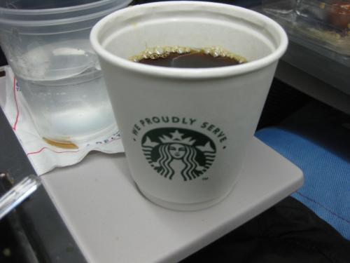 スタバのコーヒー。美味しかった。