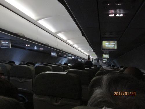 ベトナム航空の機内。