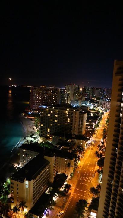 夜景もビーチで見るより綺麗に見れました(´∀`)