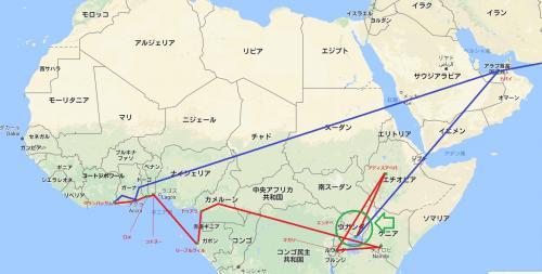今回の旅で最後に訪れるのはウガンダ。DRコンゴとケニアの大国の狭間に位置する。周辺にはブルンジ、ルワンダと言った小さな国が固まっている。<br /><br />ウガンダ到着したこの日、夜中2時にウガンダの隣国ルワンダをエチオピア航空で出発し、二時間半かけてエチオピアに。ウガンダのエンテベ行きの出発までの乗り継ぎ時間を利用してエチオピアの首都アディスアベバを観光した。そして夕方のフライトでウガンダへダイブ。殆ど眠ることができなかったのでハードな一日だった。<br /><br />翌日15時のエミレーツのフライトで帰国の途につくので、ウガンダには1日も滞在していない。