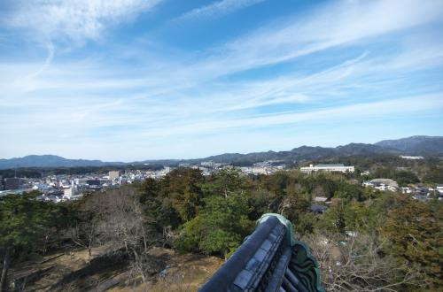 最上階から松江市内