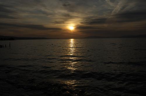 宍道湖の夕日