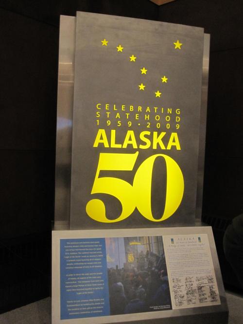 あっとゆうまにアラスカに到着です。税関の方は親切でした。