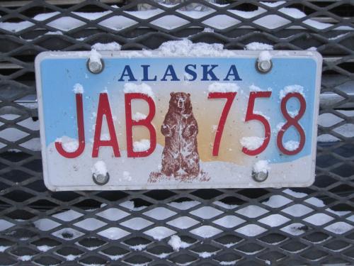 アラスカのナンバープレートです。可愛いです。