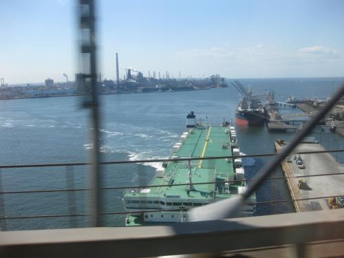 名古屋製鉄所とか湾岸の工業地帯を眺めながらゆっくりできました。