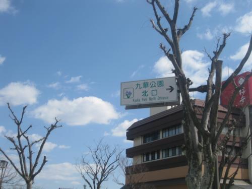お城跡の九華公園へ。
