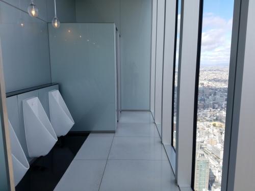 さすが、大阪!<br /><br />トイレがスゴイ!<br /><br />振り向いたら後ろがガラス張り!!!<br /><br /><br />あまりにコワくて、思わずチビルぅ~~~(*^_^*)