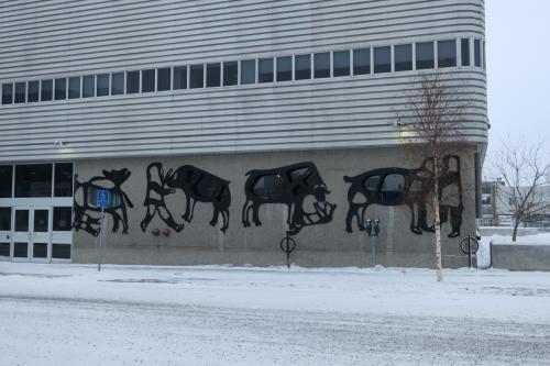 ワイルドな壁画?がカナダっぽい。
