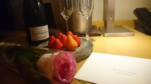 誕生日のメッセージカードも寄せられていました。ほんとに素敵なホテル。