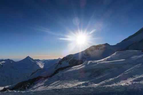 太陽がある暖かく、滑りやすいねー!