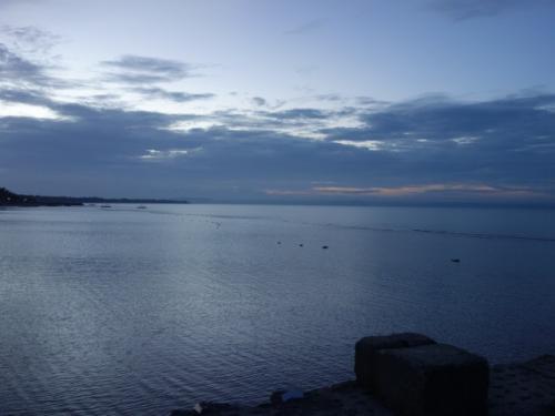 早朝のホテルからの海風景