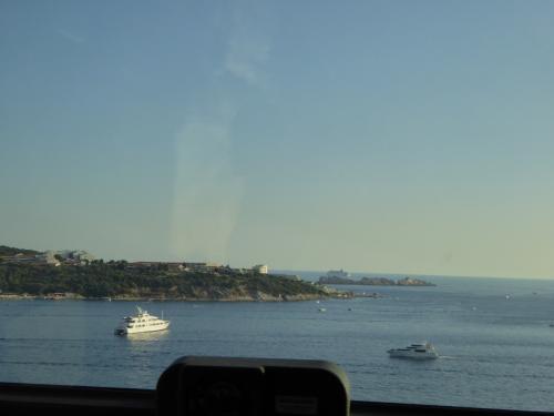 クルーズ船も見えます。