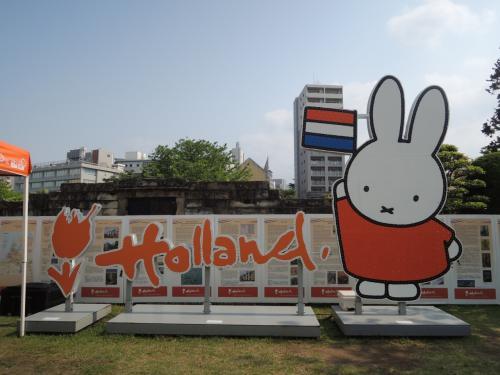 ゴールデンウィーク中ということで何やらイベント開催中で、オランダと言えばのミッフィちゃんとコラボしてました。<br /><br />さすがにこれと江戸時代の街並みは…