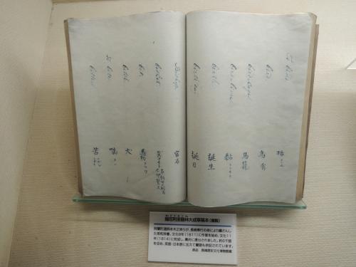 当時のオランダ語の辞書だそうです。<br /><br />Bisketの対訳としてビスコイトと書かれているほか「餅」という漢字も併記されているのが面白かったです。<br /><br />中国語で書くと餅って漢字使うもんね。