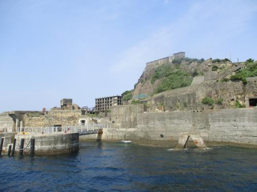 軍艦島に唯一上れる ドルフィン桟橋