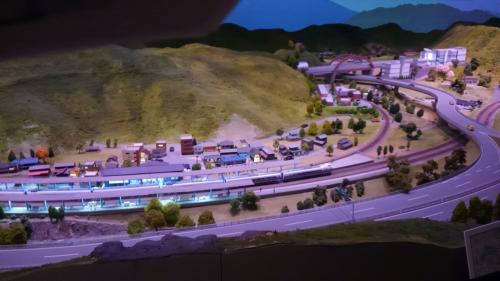 ところ変わってリニア記念館。これはこのあたりの模型。ジオラマというのか。