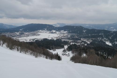 コッタゴラコースです。このスキー場唯一のテクニカルなコースです。