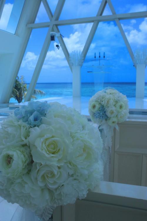 グアムウェディング『ブルーアステール』<br /><br />青い空と海が溶け合っています。