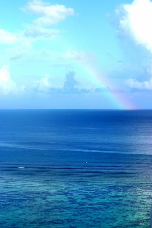 ホテルより<br /><br />虹が出ていました。
