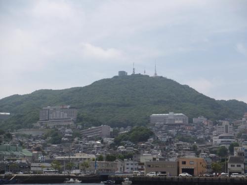 稲佐山の頂上もハッキリと見えました。