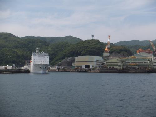 昨今の情勢に伴い、海上保安庁の巡視艇も停まっていました。