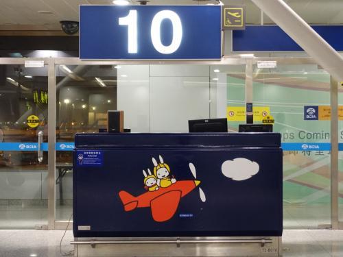 北京空港。ミッフィーちゃんがあちこちに。