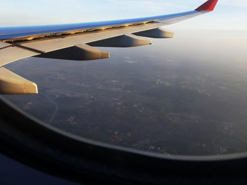モスクワ上空。