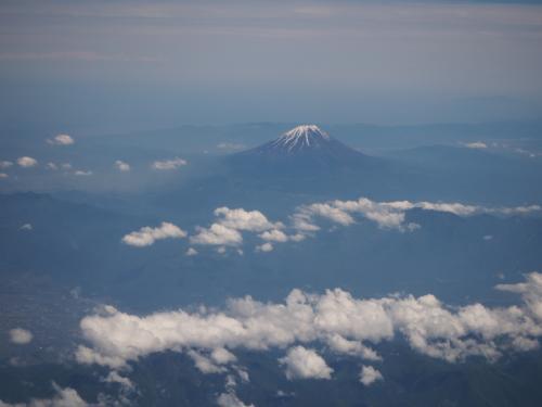 途中、富士山がきれいに見えました。