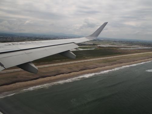 無事、仙台空港に着陸です。