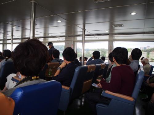 観光遊覧船に乗ります。仁王丸50分の遊覧です。