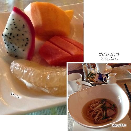 ホテルの朝食です。<br />マンゴーが甘くて甘くて。<br />あまりに美味しくてびっくりしました!<br /><br /><br /><br />さて、2日目は朝8時から観光に出発です。<br />昨日と同じドライバーさんと、<br />今日は日本語が話せる観光ガイドが付きます。<br /><br /><br />こちらもホテルの手配で、特に予約とかしていたわけではないのですが、<br />適当に行きたいところとか時間とか決めて、アレンジしてもらう感じです。<br /><br />いつものことなのですが、<br />今回全く予定をたてずに来てしまったので、<br />このホテルのアレンジには本当に助かりました。