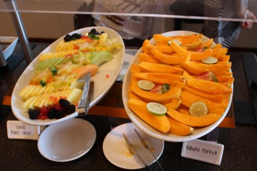わーい!<br />大好きなパパイヤがこんなに綺麗に!<br /><br />フルーツの美しさにテンションが上がります。