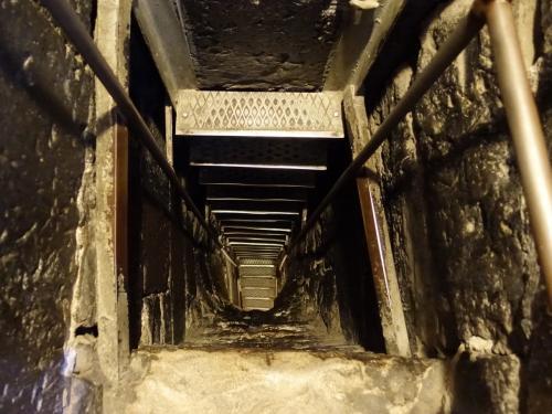 その脇に、下に続くはしごが!