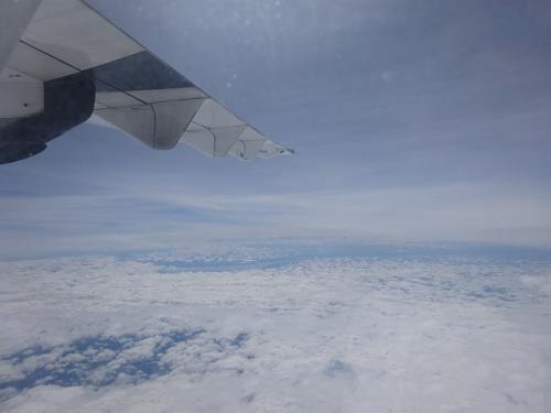 飛行艇は有視界飛行ですので、これだけ雲が垂れ込んでいると無理なのかもしれません。