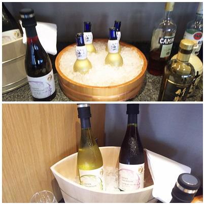八海山など日本のお酒もありますね