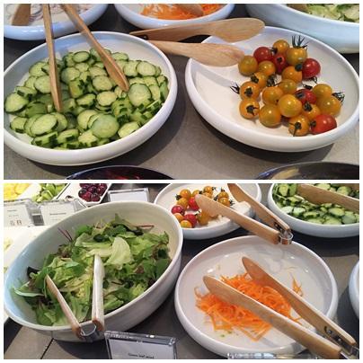 サラダ<br />野菜がフレッシュでした。<br /><br />普段からサラダをよく食べるので生野菜がおいしいのはうれしいのです