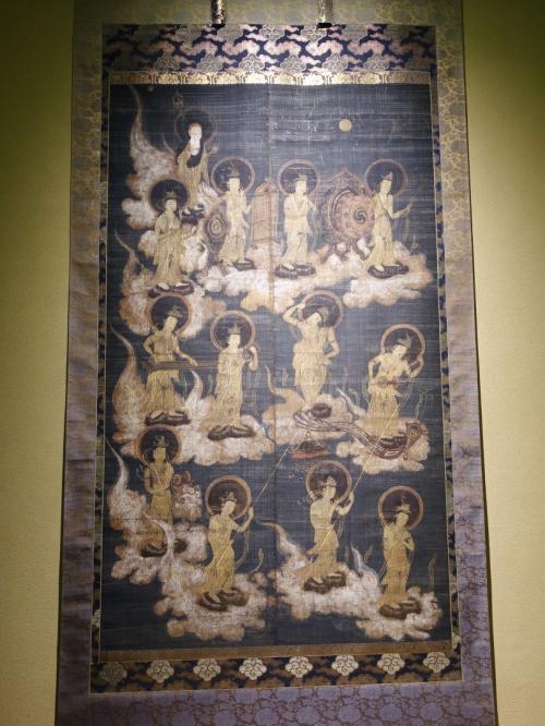 室町時代の「聖衆来迎図」。