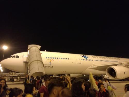 25日成都空港4:10発GA887<br />デンパサールまでは6時間位です。中国とインドネシアに時差はありません。